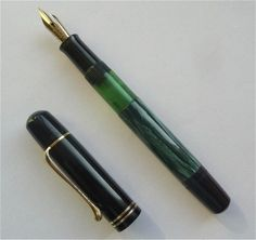Pelikan 100N Fountain Pen Green Black | eBay