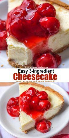 Condensed Milk Cheesecake Recipes, Homemade Cheesecake, Easy Cheesecake Recipes, Easy Cake Recipes, Baking Recipes, Dessert Recipes, Recipes Using Condensed Milk, Condensed Milk Desserts, Cheesecake Desserts