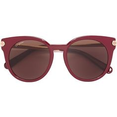 Salvatore Ferragamo round frame sunglasses (€290) ❤ liked on Polyvore featuring accessories, eyewear, sunglasses, red, salvatore ferragamo eyewear, red sunglasses, salvatore ferragamo glasses, salvatore ferragamo sunglasses and red glasses