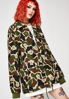 RIPNDIP Twill Camo Jacket at Dolls Kill, an online punk, goth, rave, kawaii, and streetwear clothing store. FAST & FREE WORLDWIDE SHIPPING. Shop trends and your favorite brands like Lime Crime, Wildfox Couture, Killstar, BOY London, and Y.R.U.