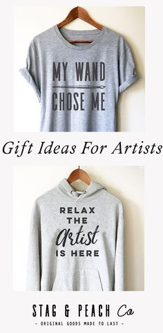 aff0c9f00 Cute inspiration for Artist gift ideas! Fun and stylish shirts and hoodies  for your arty