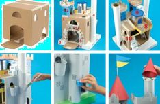 DIY Castle. This cardboard castle is amazing!