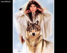 Girl And Wolf by Maija