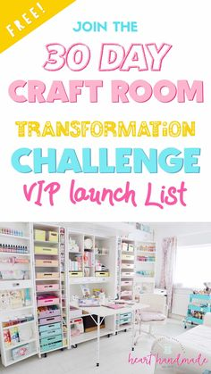 Be the first to know when the Craft Room Transformation challenge will be launched! We will totally transform your space in 30 days Craft Storage, Storage Ideas, Do It Yourself Decorating, Pastel Decor, Room Paint Colors, Good Tutorials, Diy Craft Projects, Craft Ideas, Diy Ideas
