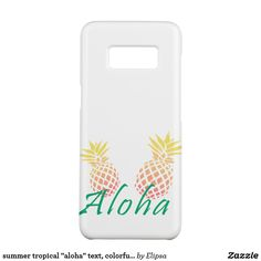 """summer tropical """"aloha"""" text, colorful pineapple Case-Mate samsung galaxy s8 case"""