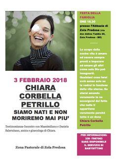 Zola Predosa (Bo), 3 Febbraio 2018 – Chiara Corbella Petrillo