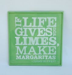 If Life Gives you Limes handpainted wood sign by BelleMaisonMarket on Etsy
