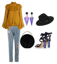 A fashion look from March 2017 featuring long shirts, blue jeans and ankle strap sandals. Browse and shop related looks. Eddie Borgo, Color Blocking, Shoe Bag, Polyvore, Stuff To Buy, Shopping, Collection, Design, Women
