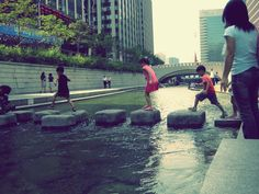 Cheonggyecheon Stream - Seoul, South Korea.