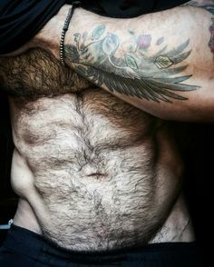 Abs, pecs, arms, fur, and that beautiful V...gorgeous.