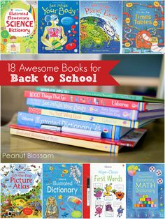 18 awesome titles to help your kids get ready for the new school year. Those math books look amazing!