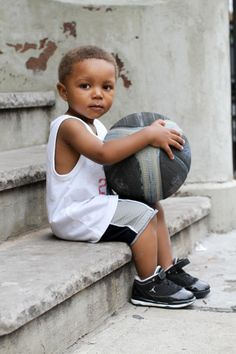 Coolest kid Air Jordans basketball