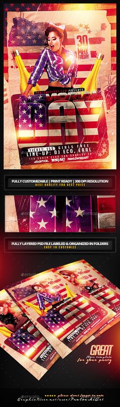Memorial Day Flyer Template - Holidays Events