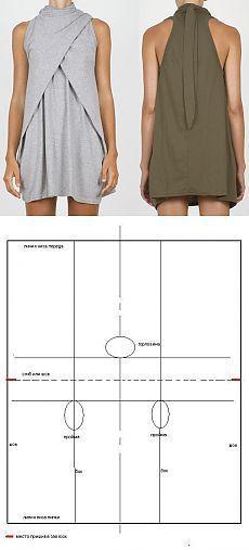 Трикотажное платье / Простые выкройки / #diydress