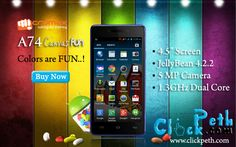 Buy Micromax A74 Canvas Fun @ Just Rs : 7,365/- Buy Now From Clickpeth.com Or Call on : +91 996-997-998-5 Cash on Delivery,Free Home Delivery Available
