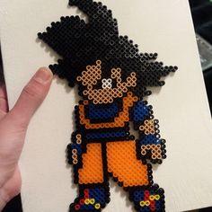 DBZ Goku perler beads by lsdmgz95