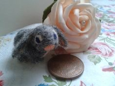 Needle Felted Bunny lop eared. by Tinascraftsforyou on Etsy, £8.95