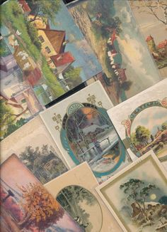 Huge Lot of 67  Vintage Postcards with Cottage & Various Scenes Scenic-a-703