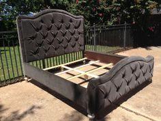 Tufted Bed Headboard Footboard Rails Rhinestone by HarrisMarksHome
