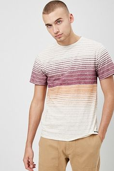 Ocean Current Striped Marled Tee In the last 30 years, the evolution of fashion has Camisa Polo, Striped Polo Shirt, Polo T Shirts, Sport T Shirt, Mens Tees, Short Sleeve Tee, Ocean Current, Casual, Men Sweater