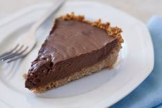 This rich, creamy, decadent chocolate coconut pie is dairy free, and easily gluten free or vegan as well.   EatingRichly.com