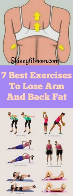 Burn off arm and back fat quick with these simple exercises. Get rid of that disturbing fat and get the sweet slender arms you've always longed for! #slenderarms #losebackfat