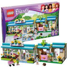 """Endlich ein Mädchen-Thema von LEGO:    In der LEGO Friends """"Tierklinik"""" (LEGO-Nr. 3188) werden die kranken Patienten liebevoll von der Tierärztin Sophie behandelt."""