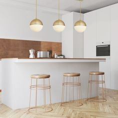 3 Powell LED Globe Pendants and Rectangle Canopy, Aged Brass Farmhouse Kitchen Lighting, Kitchen Island Lighting, Kitchen Lighting Fixtures, Kitchen Pendant Lighting, Kitchen Pendants, Light Fixtures, Ceiling Pendant, Kitchen Lights Over Island, Lights Over Dining Table