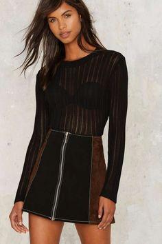 Ribbed Apart Sheer Sweater   Shop Clothes at Nasty Gal!