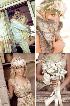 La belle Bride bohemian photo shoot. Loved her hair piece