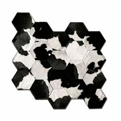 Japanese Cowhide Rug 5x6 Black  by Pure Rugs