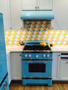 Light Blue Yellow And White Ceramic Plus Sign Mosaic Splash 4 | Modwalls  Designer Modern Tile