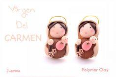 Polymer Clay. Virgen del Carmen - Necklace