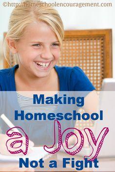 Making #Homeschooling a Joy, Not a Fight - Tips from a Homeschooled Teen #Homeschool