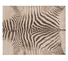 Zebra Printed Rug - Neutral