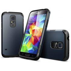 Capa Samsung Galaxy S5 Spigen Tough Armor -Metal Slate