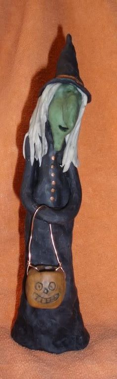 Polymer clay witch ~K.Batsel