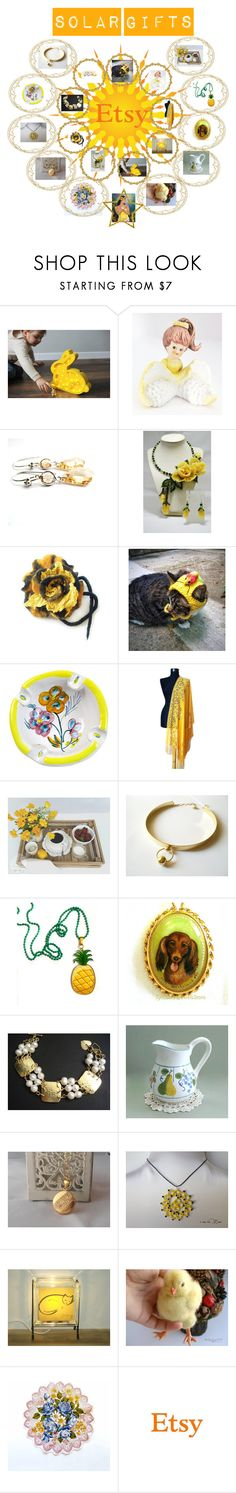 Solar gifts.Handmade and vintage by hobbyshop2015 on Polyvore featuring Giallo, Nostalgia Home Fashions, modern, rustic and vintage