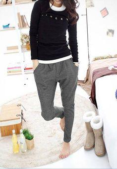 bombachas pantalones - Buscar con Google, me encanta el color gris !!