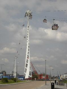 Emirates Air-Line Cable Car.  So this is pretty cool!  And I will be checking it out next time I go :)