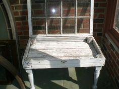 Handcrafted window coffee table or end table. Top of the table lifts up! Shabby chic/steampunk! Distressed look. Great conversation piece! See photos. Measures approx. 37.5 x 23 x 24 NO SHIPPING! LOCAL PICK-UP ONLY in Phila., Pa.!!!!!!!!!!!!! COVID-19 FREE Antique Windows, Vintage Windows, Wood Windows, Window Coffee Table, Window Table, Shabby Chic Coffee Table, Rustic Coffee Tables, Shadow Box Coffee Table, Window Shadow
