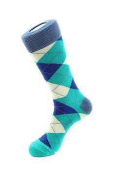 Argyle Sock, Blue Socks, Blue Unsimply Stitched Socks Argyle Socks, Blue Socks, Male Feet, Crew Socks, Stitch, Collection, Fashion, Socks, Men's Apparel