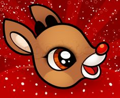 How to Draw Rudolph Easy, Step by Step, Christmas Stuff, Seasonal, FREE Online Drawing Tutorial, Added by Dawn, December 6, 2013, 2:20:51 am