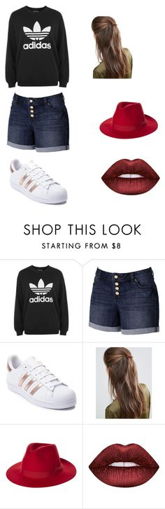 """""""Awesome"""" by jinxallison on Polyvore featuring adidas, Jennifer Lopez, DesignB London, Brixton and Lime Crime"""