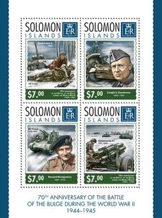 SLM 14315 aThe 70th anniversary of the Battle of the Bulge during the World War II (1944-1945) (Panther Ausf.D, 1943, {…}, Nebelwerfer 41, 1941-1945)