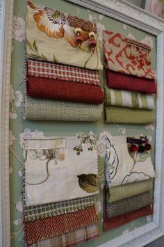 Fabric inspiration board