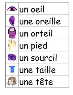 Le corps - French Vocabulary Word Wall