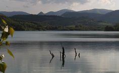 Lake Polverina, province of Macerata. Le Marche, Italy.