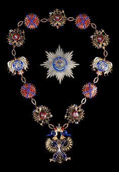 "Order of Saint Andrew — Set of insignia from the reign of Tsar Alexander II, stolen from ""Högerhof"", the 17th century hunting lodge of the Habsburg family in Türnitz along with other valuables. The set was sold by one of the thieves in a car-park for 100,000€. It was later retrieved and finally sold by Kai Winkler Auction house to a Russian buyer for 300,000€. See more details on https://www.winkler-auktion.de/auktionen/auktion2/St_Andreas_Orden/Komplettes_Set_des_St_Andreas_Orden_270.html"