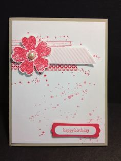 Gorgeous Grunge & Flower Shop Together Again Stampin' Up! Rubber Stamping Handmade Cards Stamp a Stack Birthday Card
